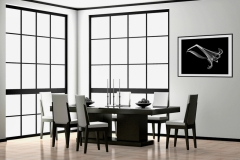 Dining Room with Elegant Lily Xray Photography